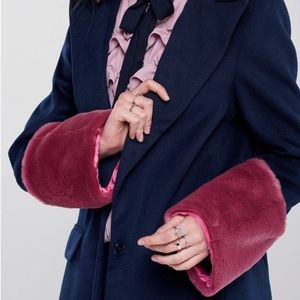Storets Jackets & Coats - Gemma Faux Fur Sleeve Coat Storets